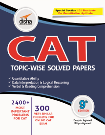 CAT Topic-wise Solved Papers with 6 Online Practice Sets (9th Edition)